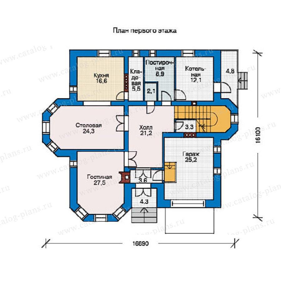 План 1-этажа проекта 31-78