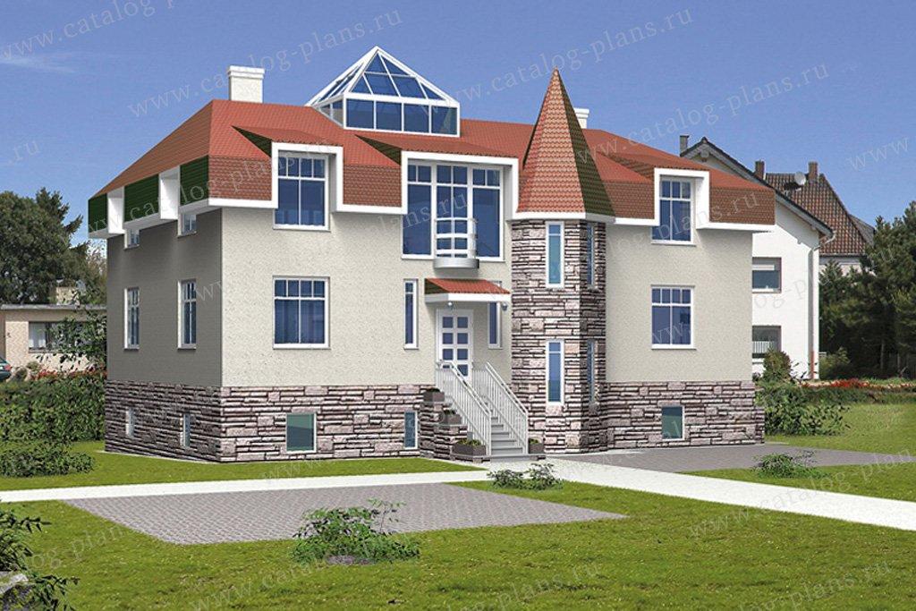 Проект жилой дом #31-36 материал - кирпич, стиль средневековый