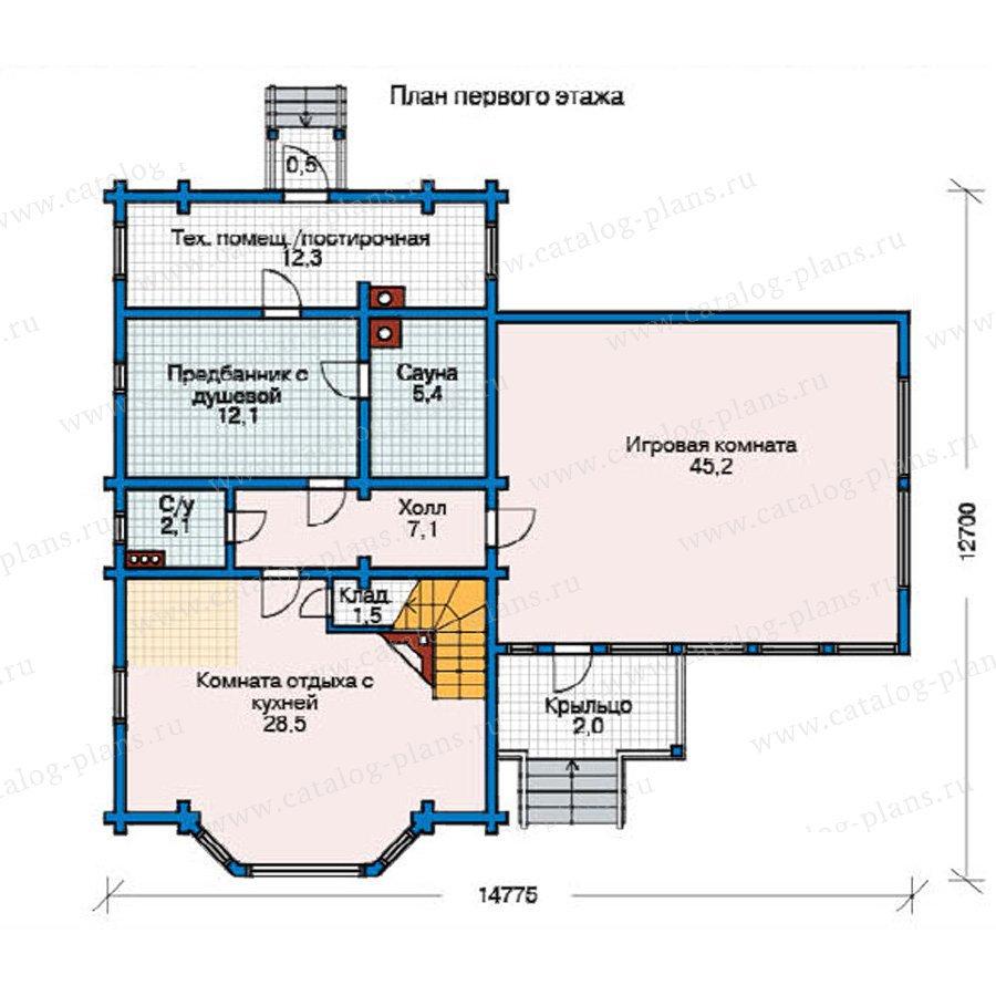План 1-этажа проекта 11-38