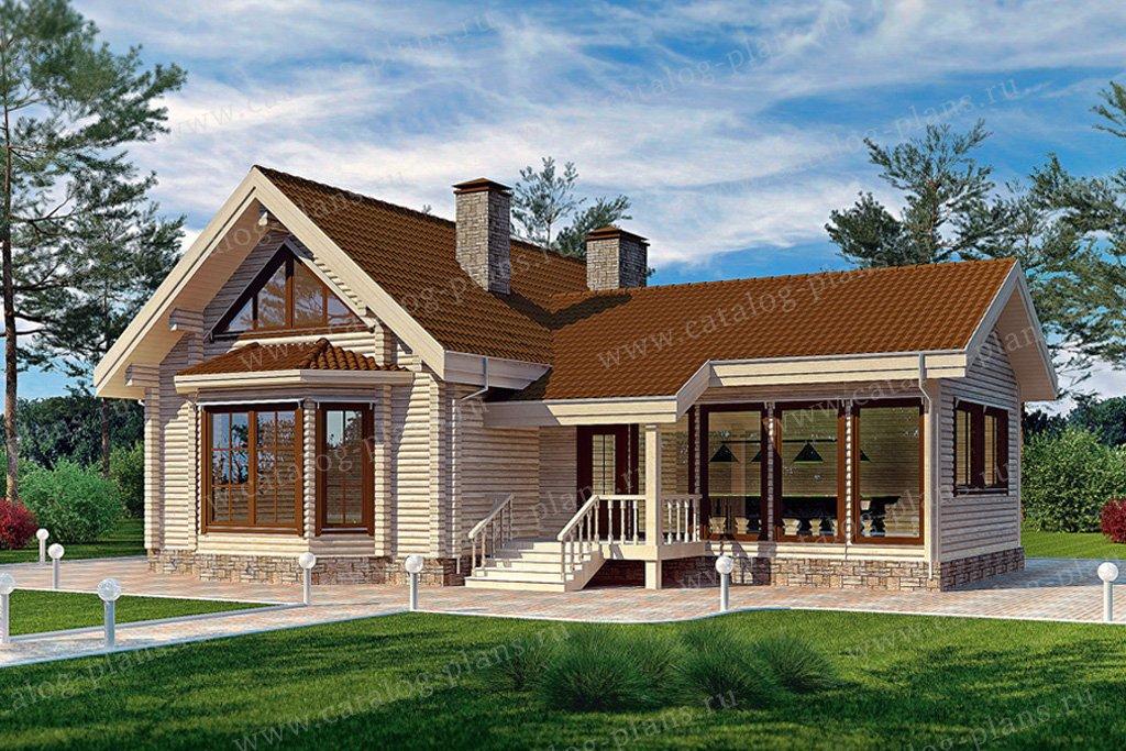 Проект жилой дом #11-38 материал - дерево, стиль современный