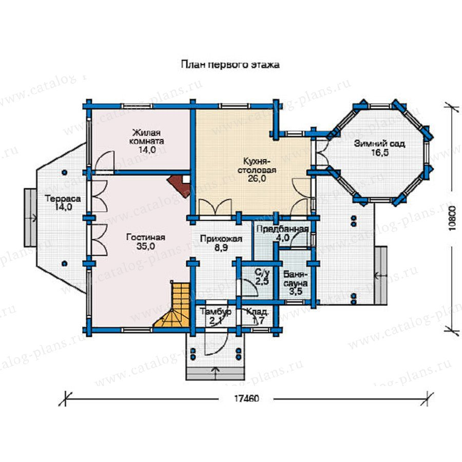 План 1-этажа проекта 12-07