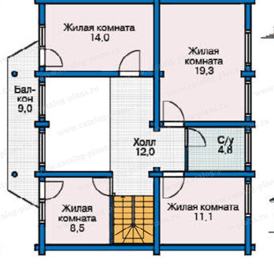 План 2-этажа проекта 12-07
