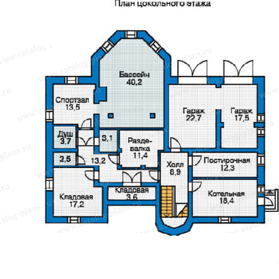 План 1-этажа проекта 31-36