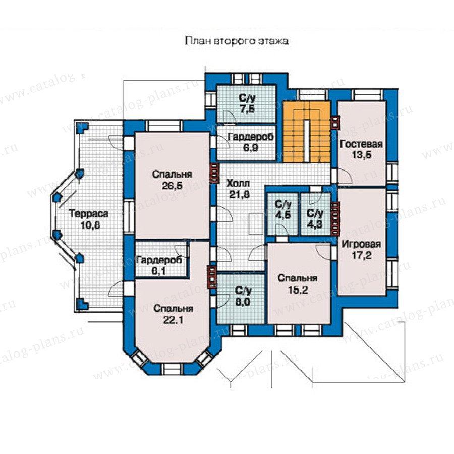 План 2-этажа проекта 49-02