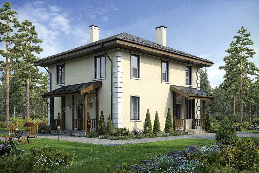 Проект жилой дом #40-04 материал - кирпич, стиль европейский