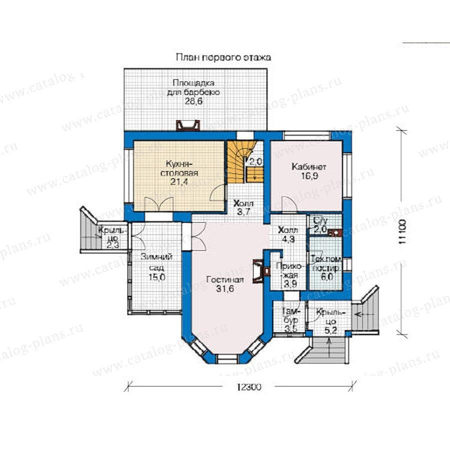 План 1-этажа проекта 49-05