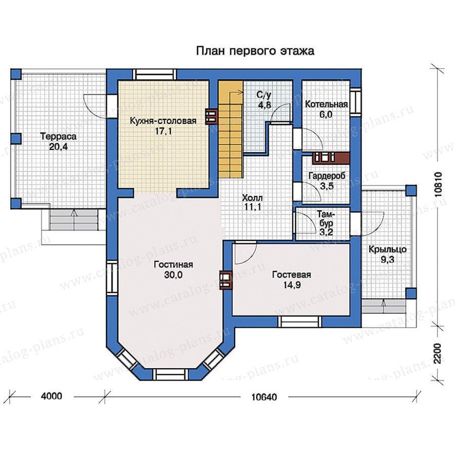 План 1-этажа проекта 40-08