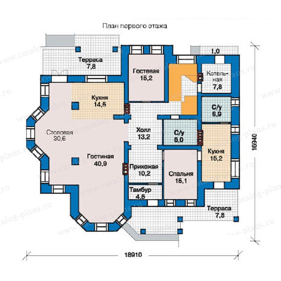 План 1-этажа проекта 49-02