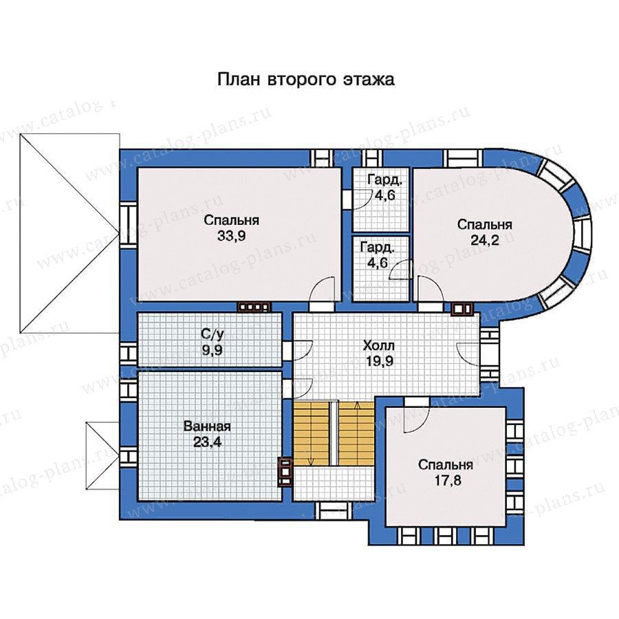 План 2-этажа проекта 40-10