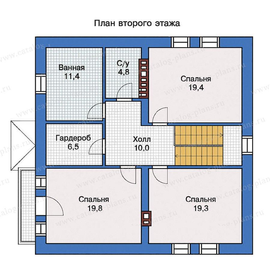 План 2-этажа проекта 40-07