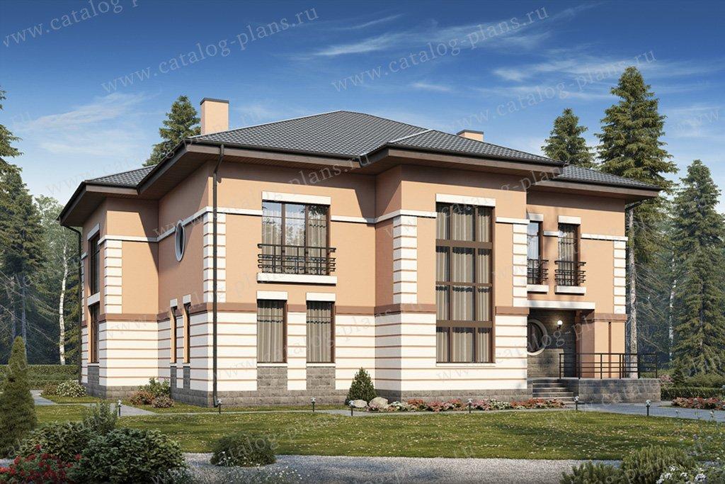 Проект жилой дом #40-15G материал - газобетон, стиль американский