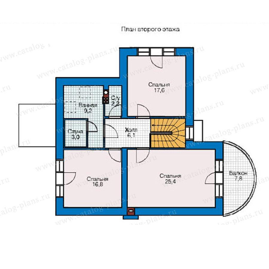 План 2-этажа проекта 49-06