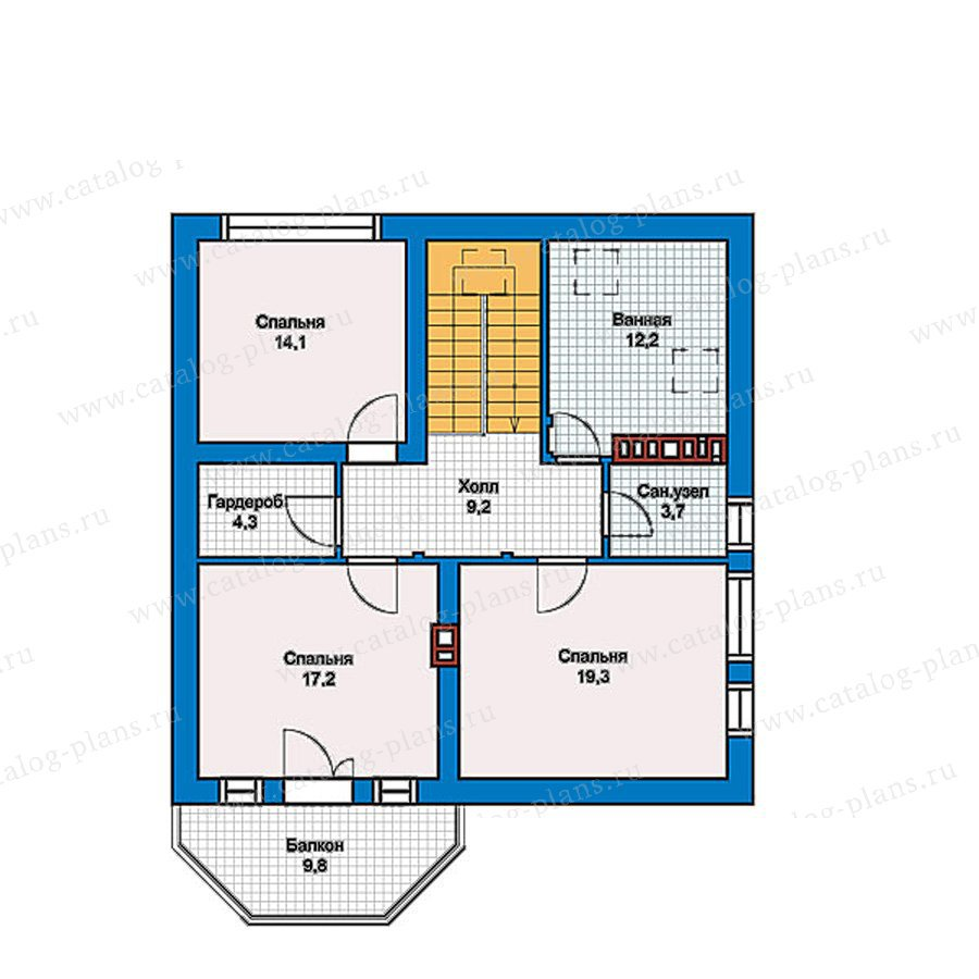 План 2-этажа проекта 40-16