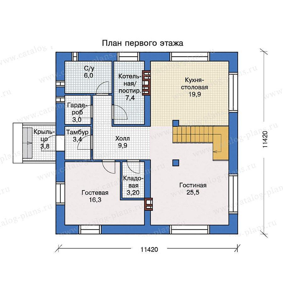 План 1-этажа проекта 40-07