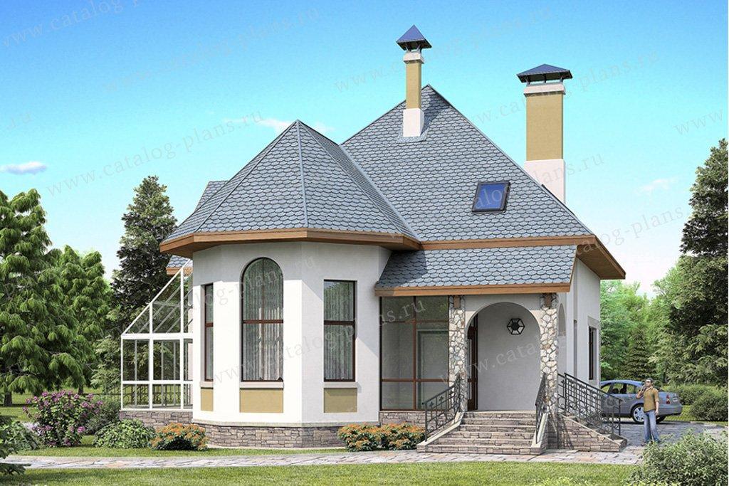 Проект жилой дом #49-05 материал - кирпич, стиль европейский
