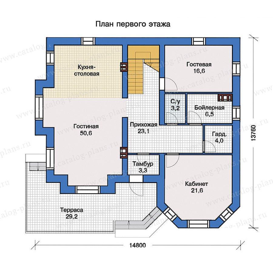 План 1-этажа проекта 40-11G