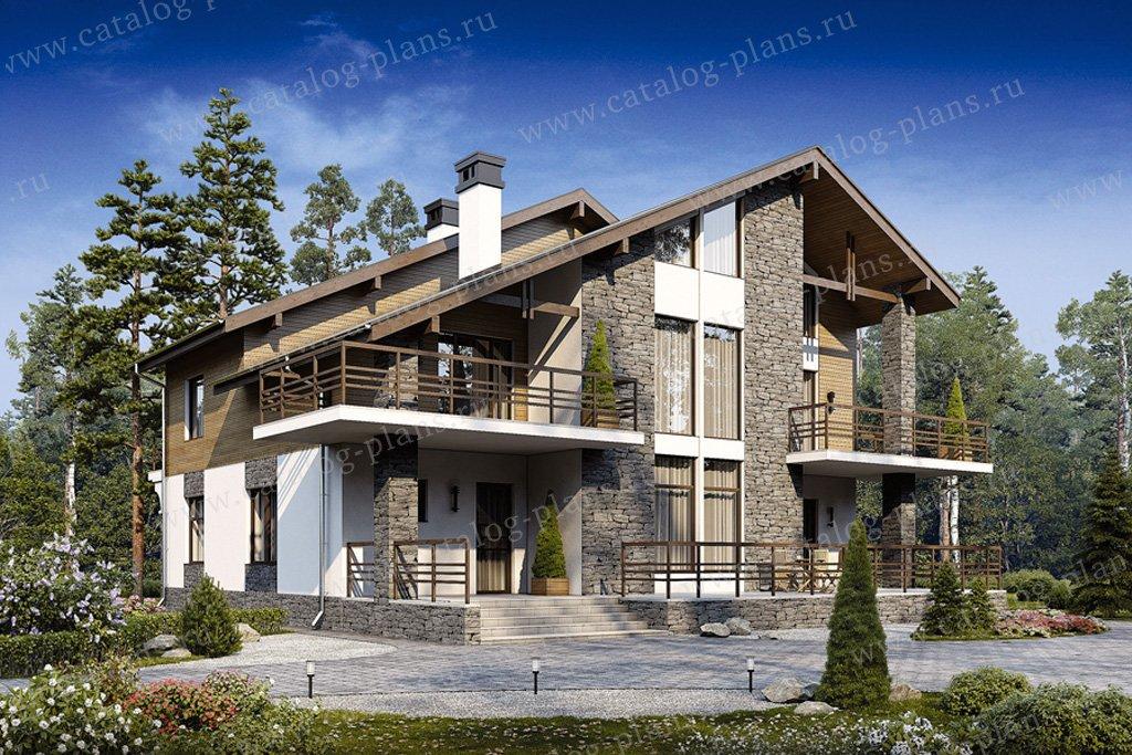 Проект жилой дом #40-09 материал - кирпич, стиль скандинавский