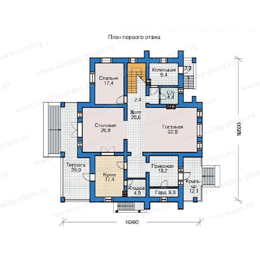 План 1-этажа проекта 49-03