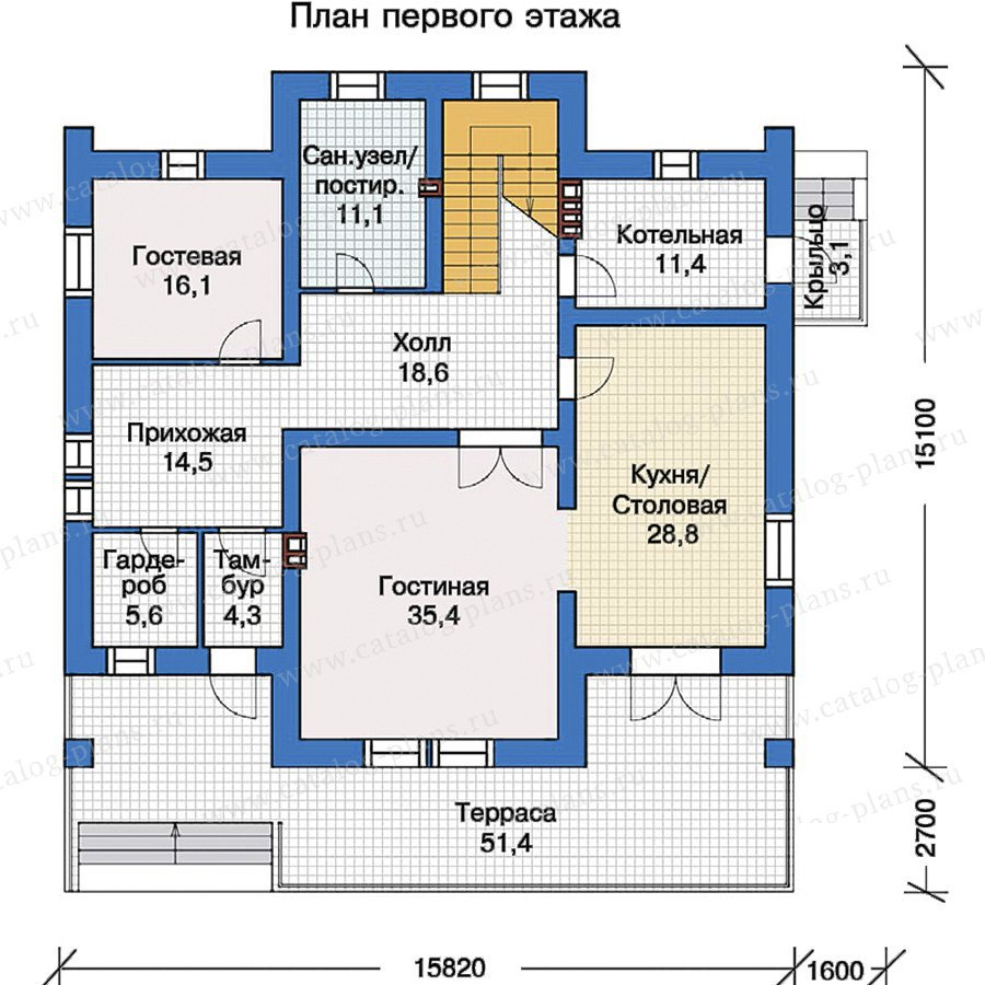 План 1-этажа проекта 40-09
