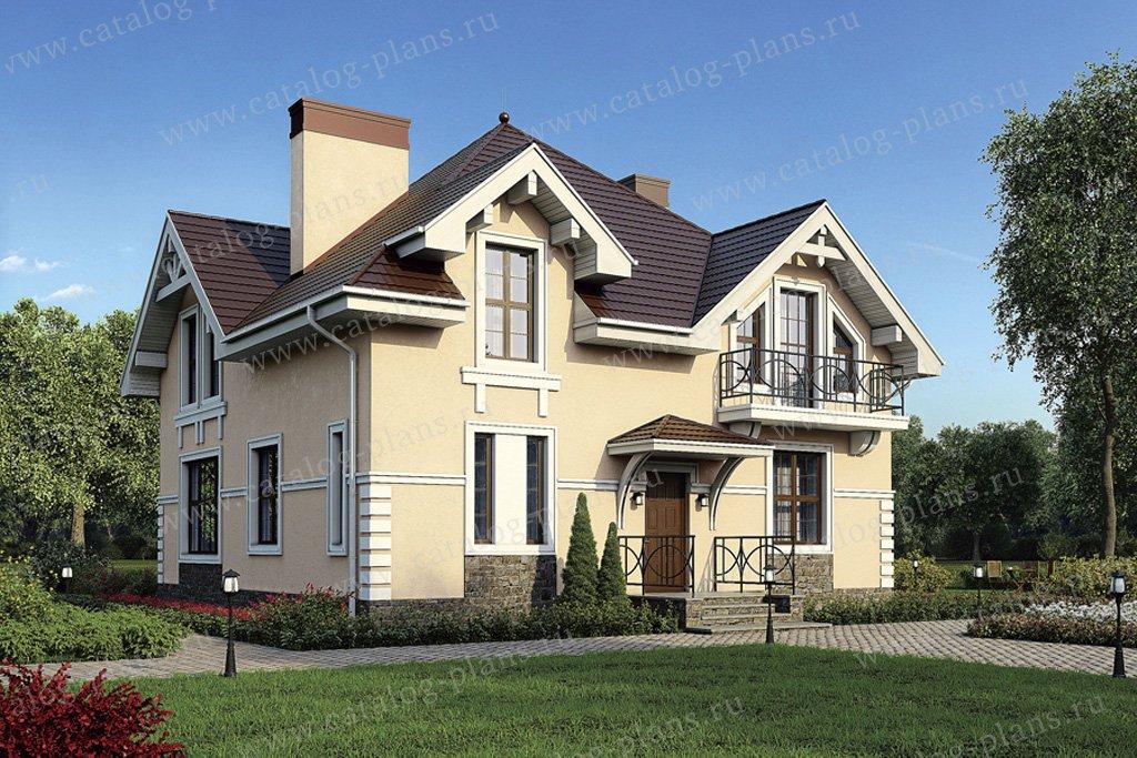 Проект жилой дом #40-07 материал - кирпич, стиль классический