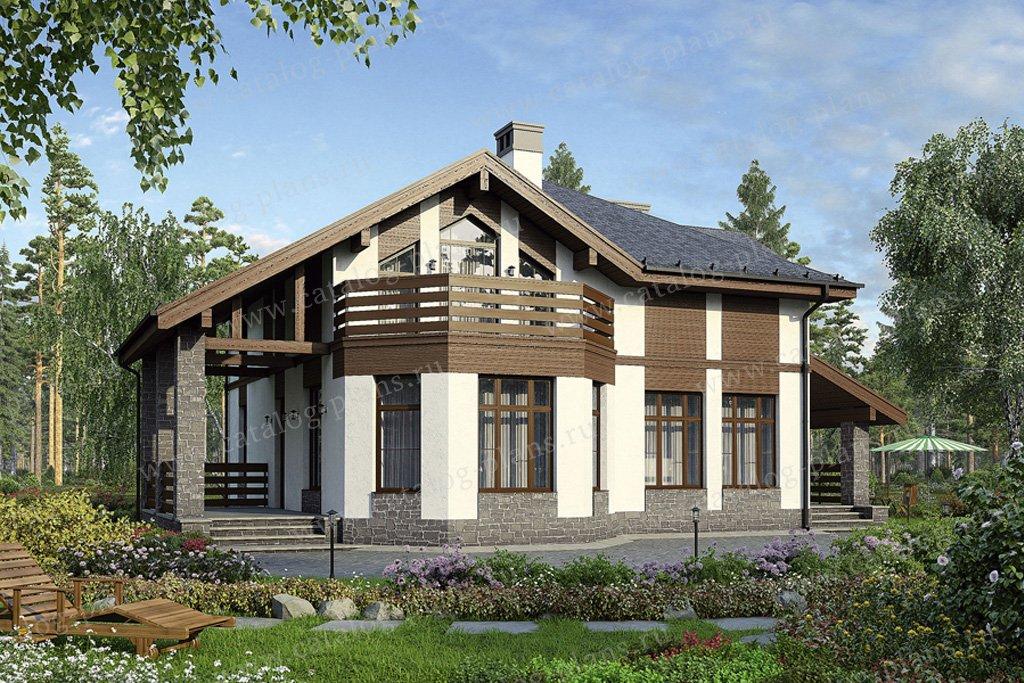 Проект жилой дом #40-16 материал - кирпич, стиль скандинавский