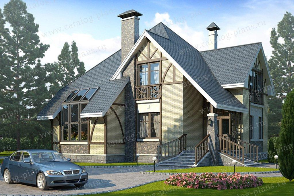 Проект жилой дом #49-09 материал - кирпич, стиль немецкий