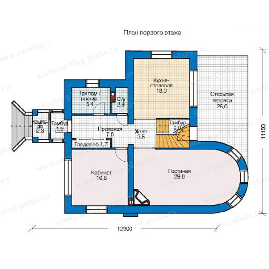 План 1-этажа проекта 49-06