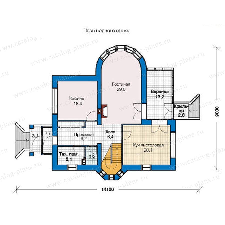 План 1-этажа проекта 49-10