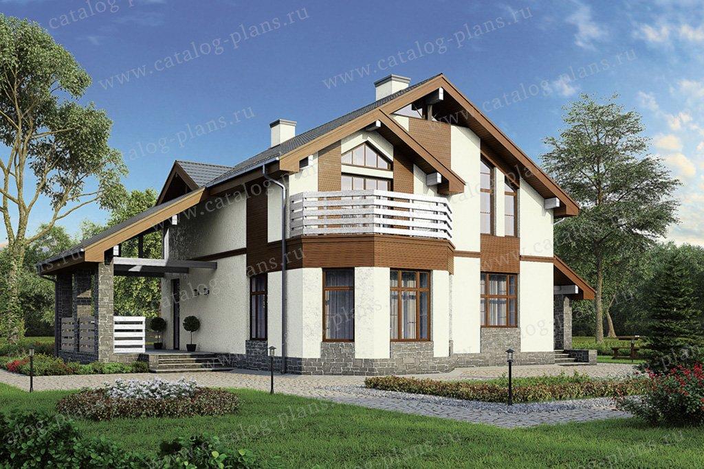 Проект жилой дом #40-08 материал - кирпич, стиль современный