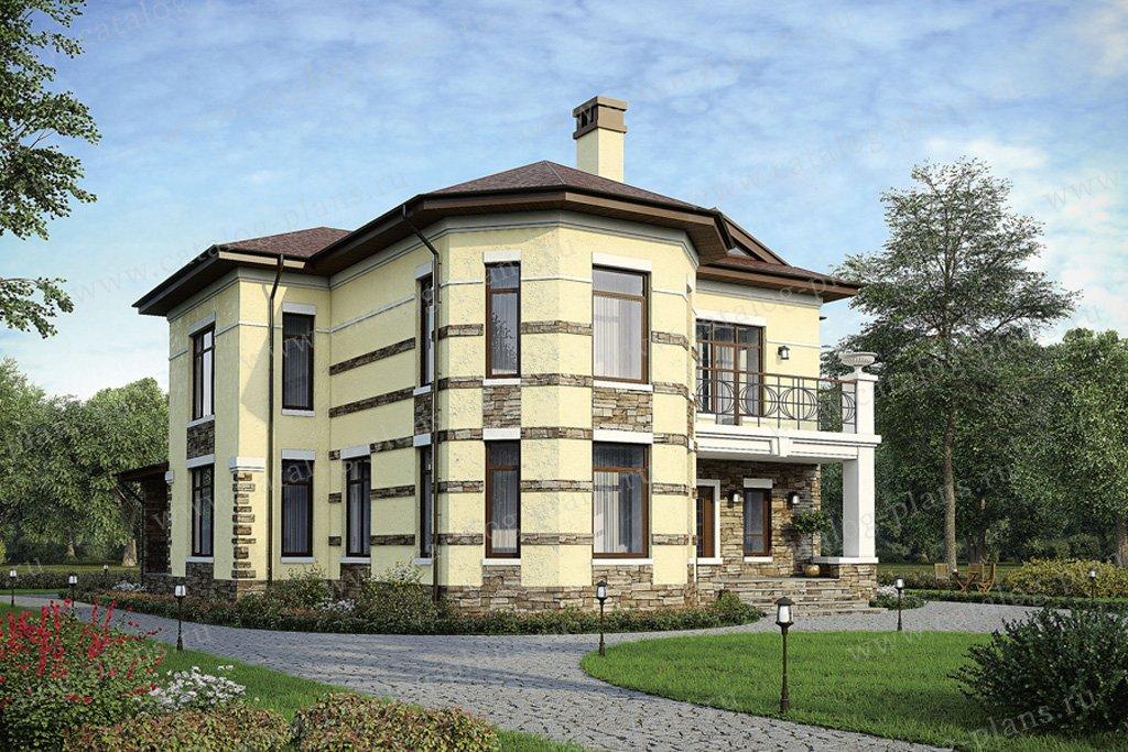 Проект жилой дом #40-06 материал - кирпич, стиль европейский