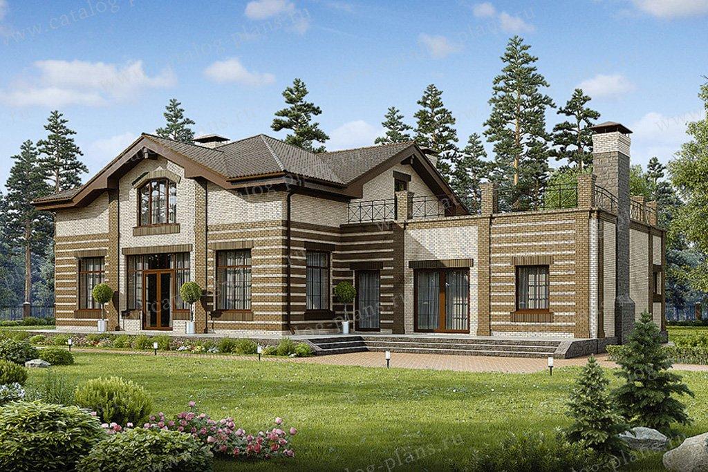 Проект жилой дом #49-04 материал - кирпич, стиль европейский