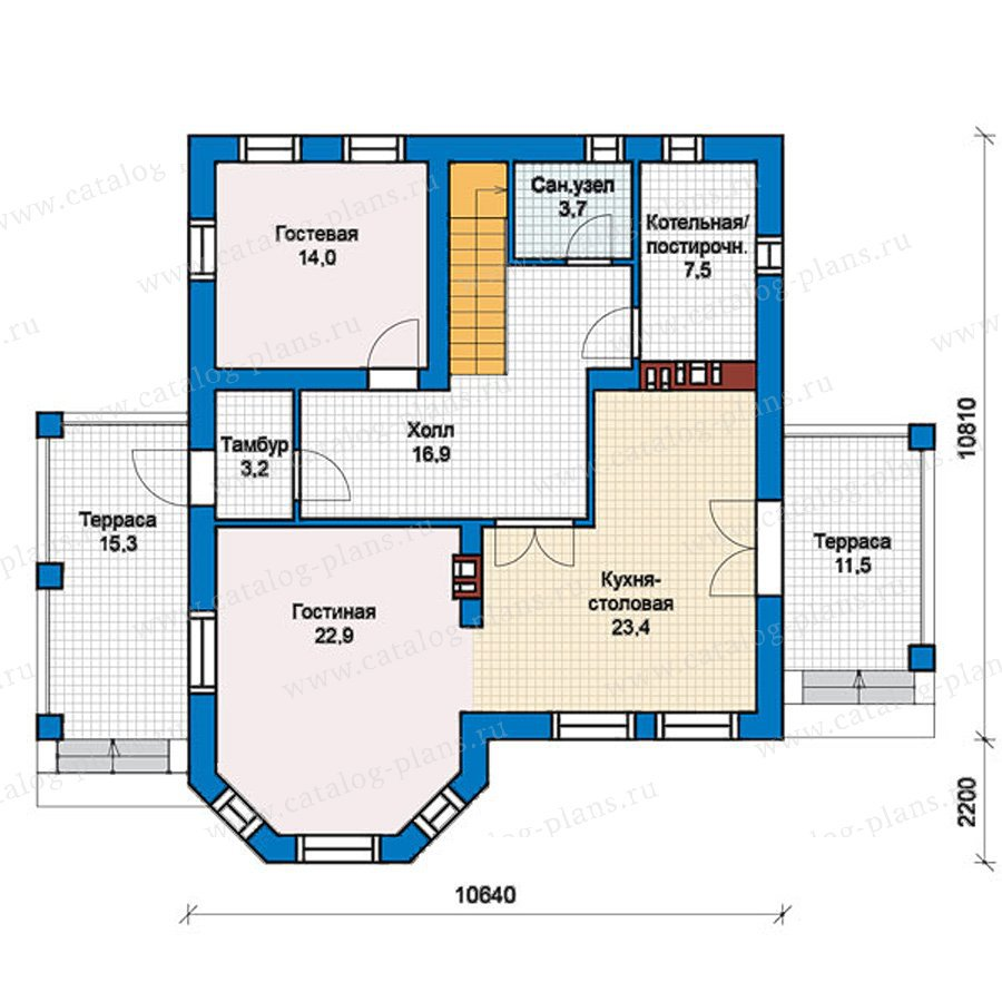 План 1-этажа проекта 40-16