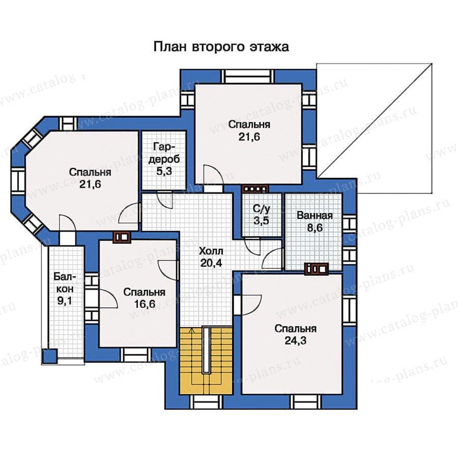 План 2-этажа проекта 40-06