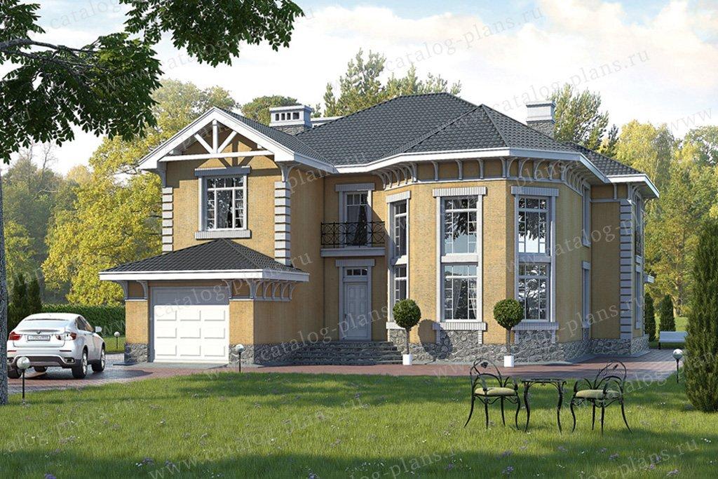 Проект жилой дом #49-01 материал - кирпич, стиль классический
