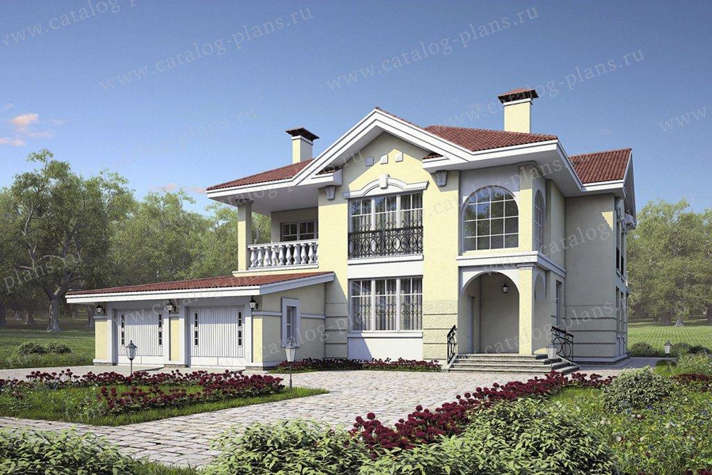 Проект жилой дом #49-25 материал - кирпич, стиль итальянский
