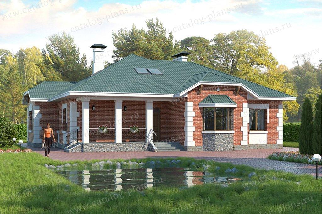 Проект жилой дом #49-29 материал - кирпич, стиль классический