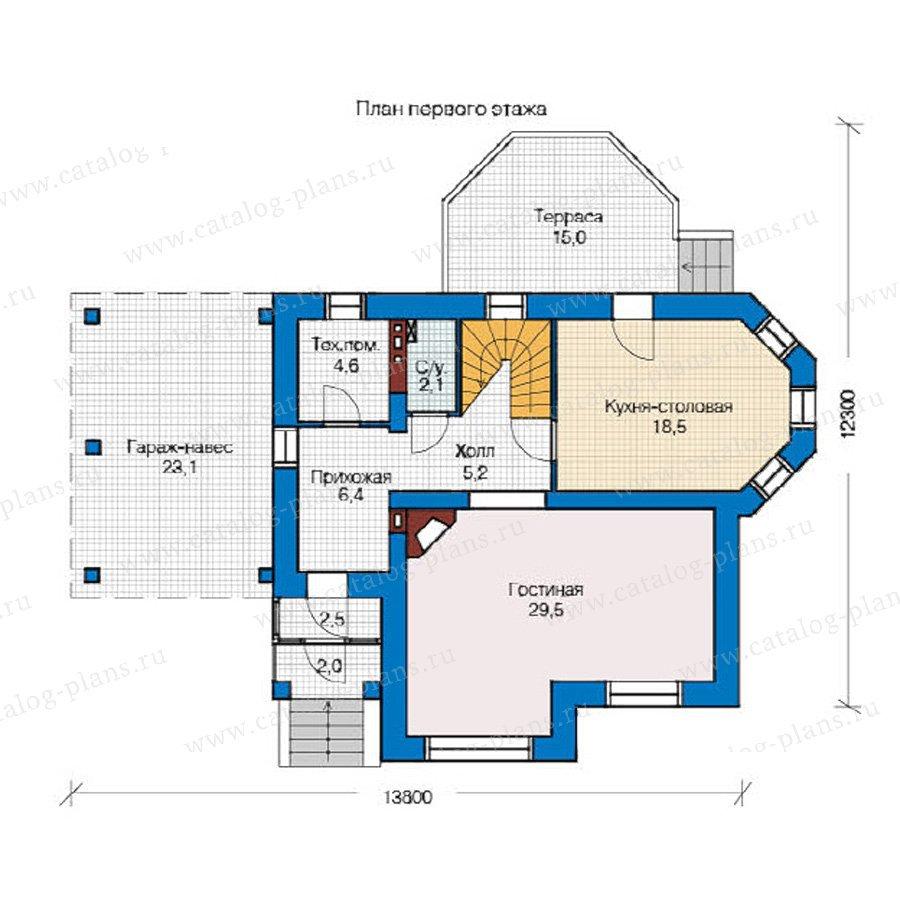 План 1-этажа проекта 49-12