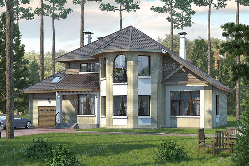 Проект жилой дом #49-30 материал - кирпич, стиль европейский