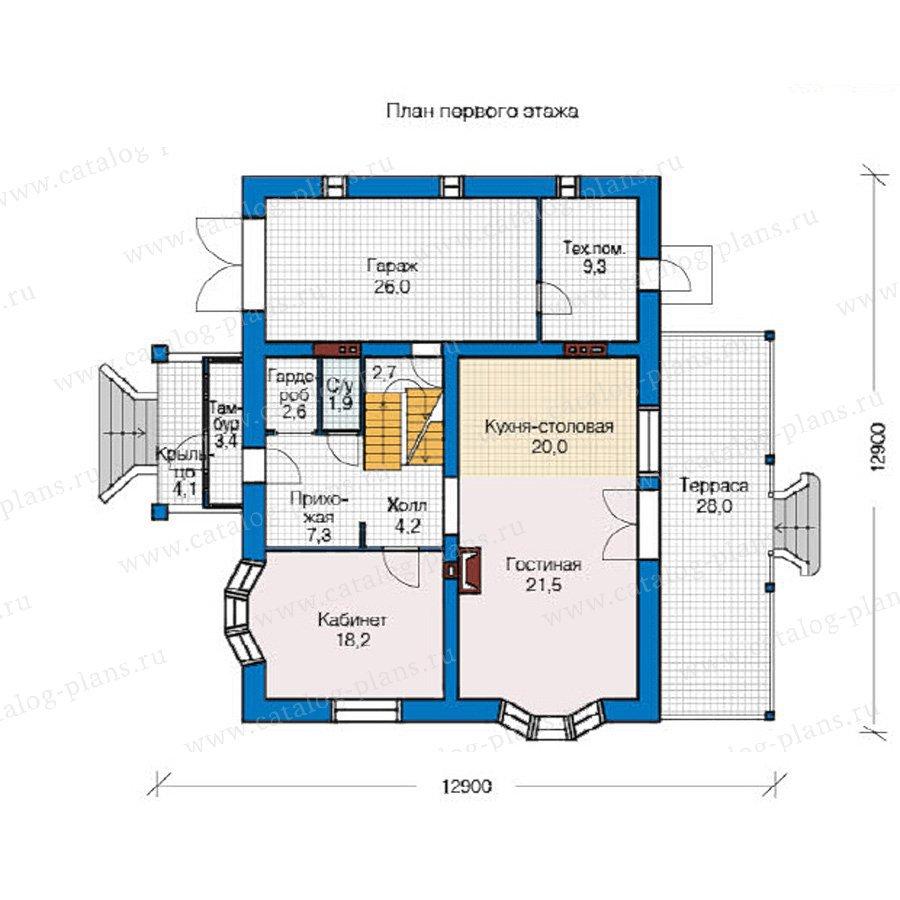 План 1-этажа проекта 49-13