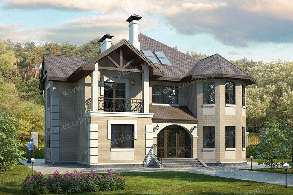 Проект жилой дом #49-24 материал - кирпич, стиль европейский