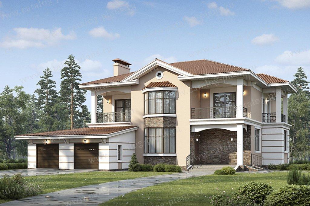 Проект жилой дом #49-26 материал - кирпич, стиль итальянский
