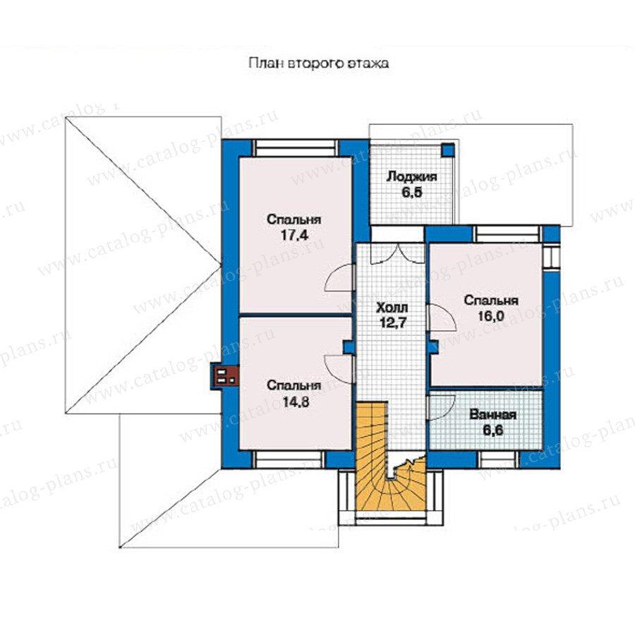 План 2-этажа проекта 49-34
