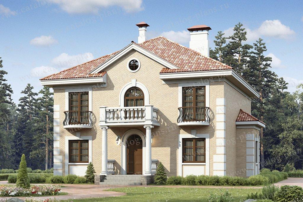 Проект жилой дом #49-40 материал - кирпич, стиль итальянский