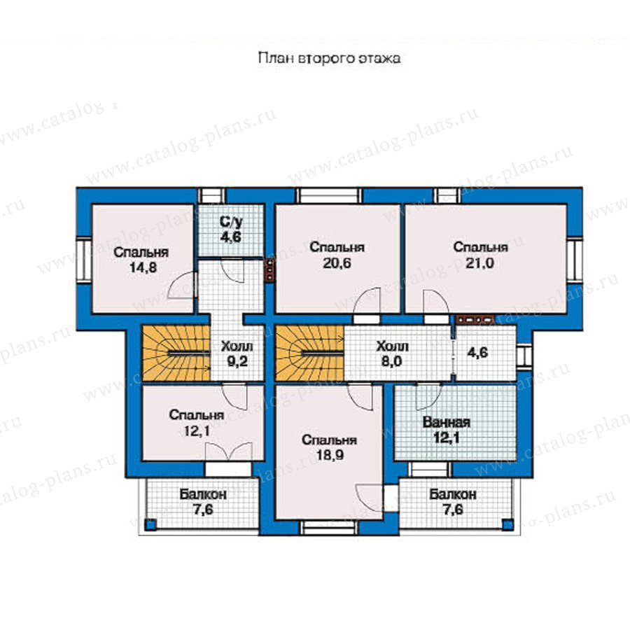 План 2-этажа проекта 49-28