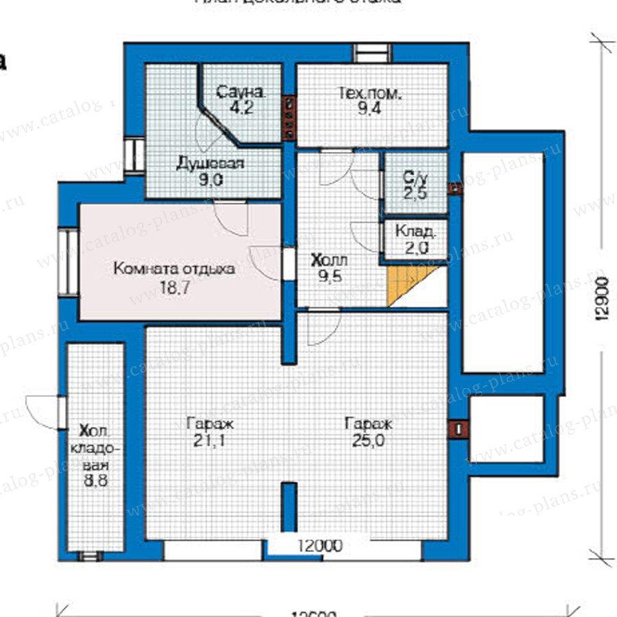 План 1-этажа проекта 49-17