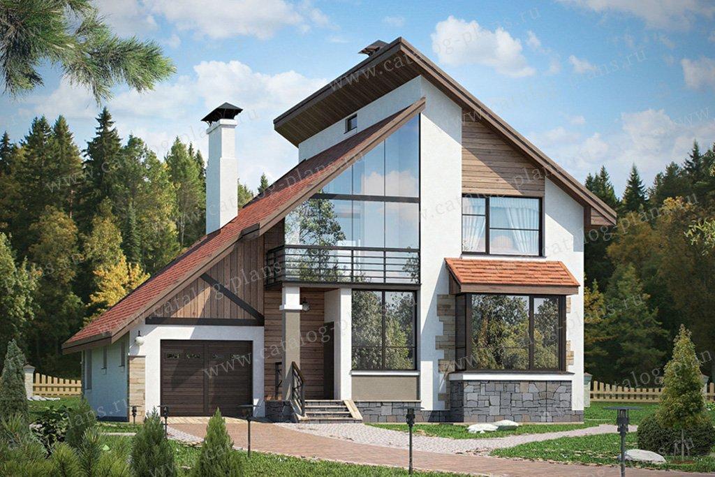 Проект жилой дом #49-39 материал - кирпич, стиль современный
