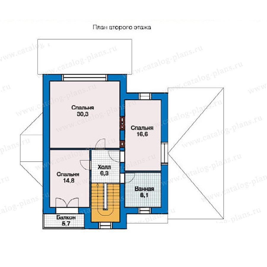 План 2-этажа проекта 49-36