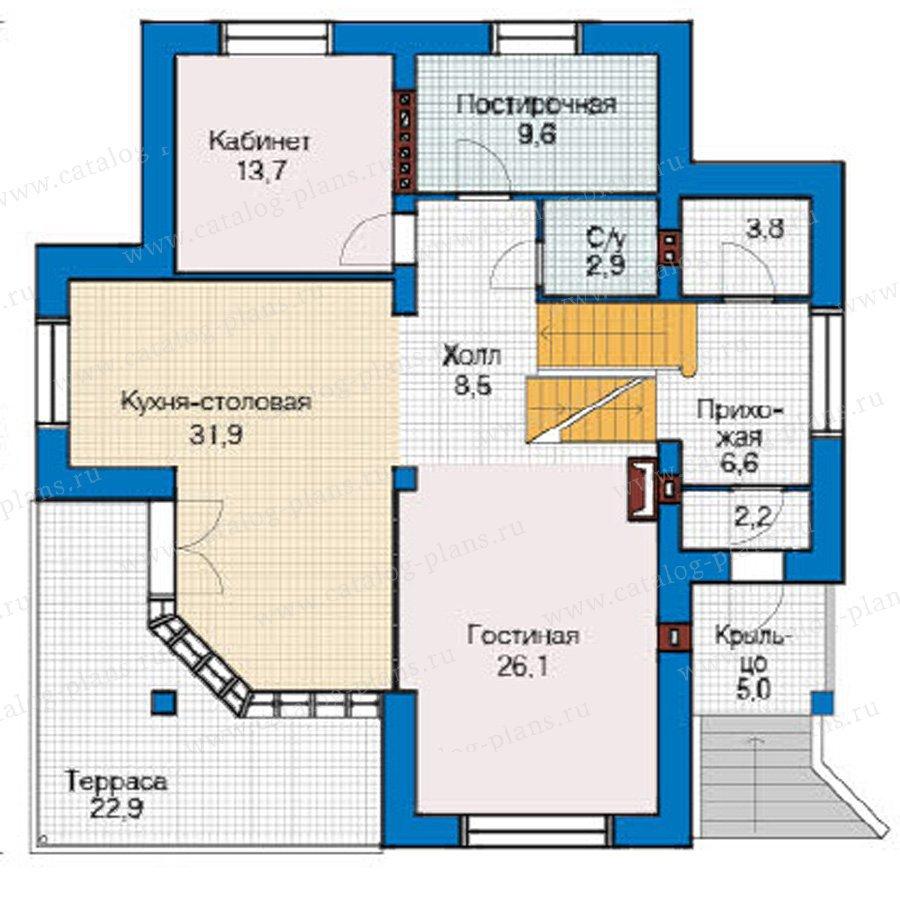План 2-этажа проекта 49-17