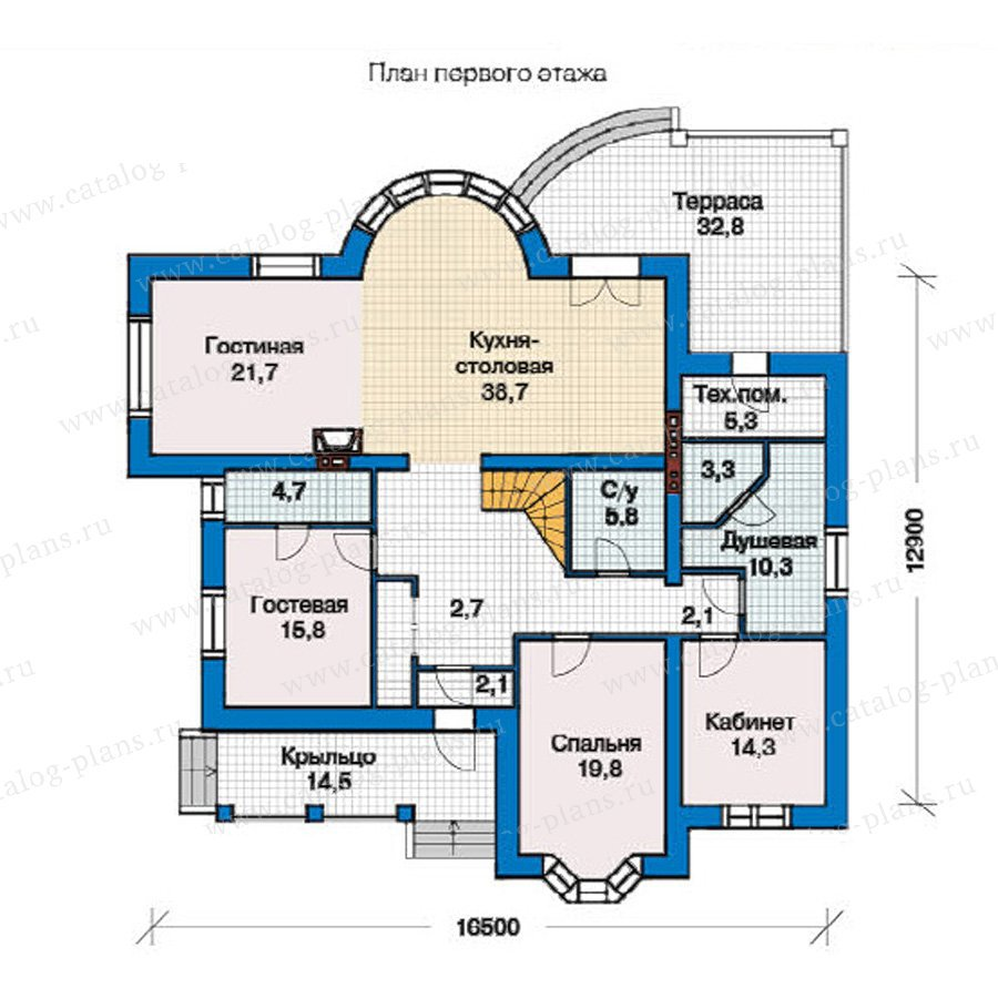 План 1-этажа проекта 49-29