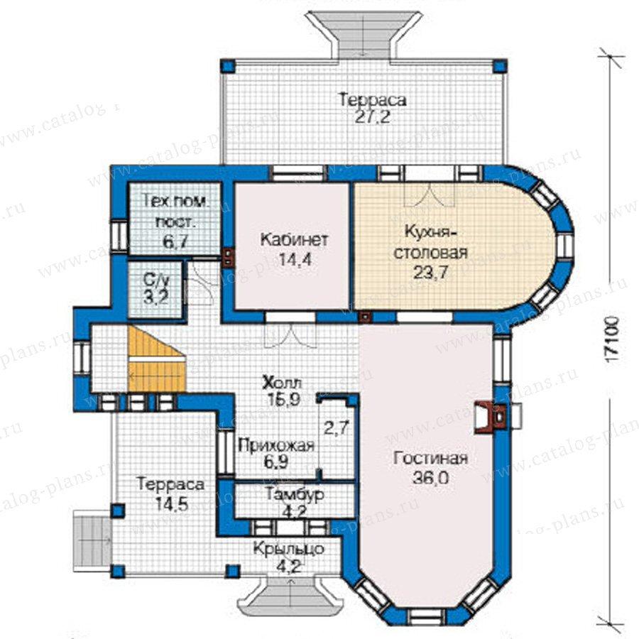 План 1-этажа проекта 49-15